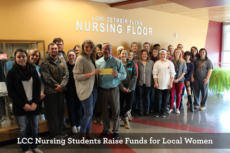 LCC Nursing Students Raise Funds for Local Women